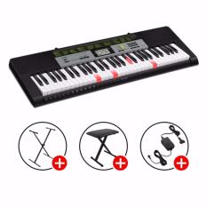 Best Rated Casio Key Lighting Keyboard Lk 135 Black Silver With X Stand X Bench