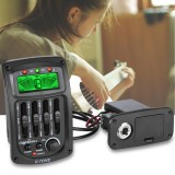 Cherub Gs 3 Acoustic Guitar Preamp Piezo Pickup 4 Band Eq Equalizer Lcd Display Intl Free Shipping