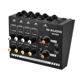 Buy Compact Size 8 Channels Mono Stereo Audio Sound Line Mixer With Power Adapter Intl Online