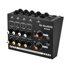 Where To Buy Compact Size 8 Channels Mono Stereo Audio Sound Line Mixer With Power Adapter Intl