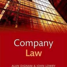 Company Law (Author: Alan Dignam, John Lowry, ISBN: 9780198753285)
