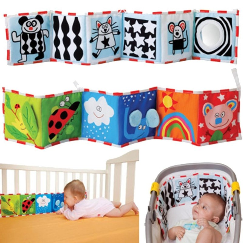 Fang Fang Baby Toys Crib Bumper Baby Cloth Book Baby Education Book - 1# - intl