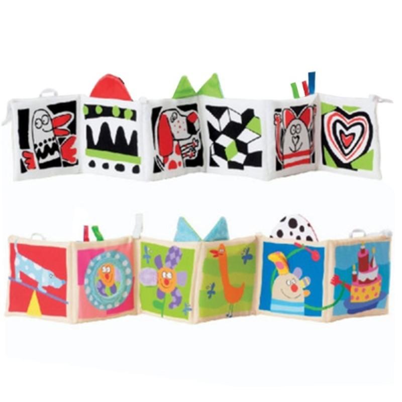 Fang Fang Baby Toys Crib Bumper Baby Cloth Book Baby Education Book - 2# - intl