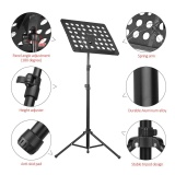 New Flanger Fl 05R Collapsible Sheet Music Score Tripod Stand Holder Bracket Aluminum Alloy With Water Resistant Carry Bag For Orchestra Violin Piano Guitar Instrument Performance Intl