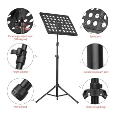 Where Can I Buy Flanger Fl 05R Collapsible Sheet Music Score Tripod Stand Holder Bracket Aluminum Alloy With Water Resistant Carry Bag For Orchestra Violin Piano Guitar Instrument Performance Intl