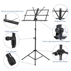 Foldable Sheet Music Tripod Stand Holder Lightweight With Water Resistant Carry Bag For Violin Piano Guitar Instrument Performance Intl Coupon Code