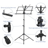 Best Rated Foldable Sheet Music Tripod Stand Holder Lightweight With Water Resistant Carry Bag For Violin Piano Guitar Instrument Performance Intl