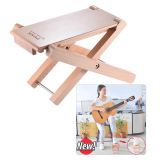 Foldable Wooden Guitar Foot Rest Stool Pedal 4 Level Adjustable Height Beech Wood Material Intl Discount Code