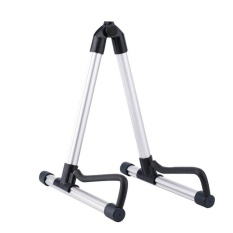 Shop For Folding Electric Acoustic Bass Guitar Stand A Frame Floor Rack Holder Silver Intl