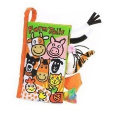 Gift For Sids 1pc 21cm Creative TANGGER Forest Animal Tail Cloth Book Ring Paper High Quality Baby Intelligence Toy - intl