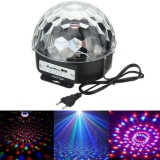 【Happy 2017】 Yk2227 6 Colors 18W Digital Rgb Rotating Lamp Led Music Crystal Magic Ball Effect Light Mp3 Usb Disco Dj Stage Lighting Remote Control Bluetooth Control Ac100 240V Intl For Sale
