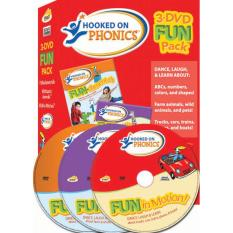 Hooked On Phonics 3-Dvd Fun Pack By Get Snappy Now