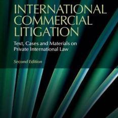 International Commercial Litigation (Author: Trevor C. (London School of Economics and Political Science) Hartley, ISBN: 9781107479562)
