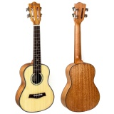 How To Get Kmise Classical Concert Ukulele Solid Spruce Mahogany 23 Ukelele Hawaii Guitar For Music Lover Intl
