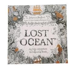 LALANG Secret Garden Lost Ocean Painting Coloring Book English Edition 24 Pages