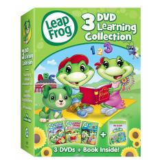 Leapfrog: 3-Dvd Learning Collection With Bonus Book By Ichiban Kids