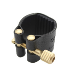 Ligature Fastener For Alto Sax Saxophone Rubber Mouthpiece Artificial Leather Compact Durable By Tomtop.