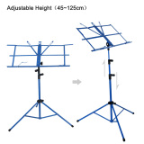 Buy Lightweight Sheet Music Metal Stand Holder Folding Foldable With Waterproof Carry Bag Online