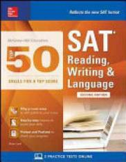 McGraw-Hill Education Top 50 Skills for a Top Score: Sat Reading, Writing & Language (Author: Brian Leaf, ISBN: 9781259585654)