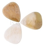 Review Mhs 3X2 5Cm Cattle Horn Guitar Picks Plectrums Set Of 3 Cream Intl China