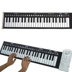 Mini 49 Keys Roll Up Electronic Flexible Folding Keyboard Piano Soft Handscroll On Line