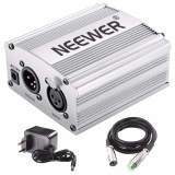 Discount Neewer 1 Channel 48V Phantom Power Supply Silver Adapter One Xlr Audio Cable For Condenser Microphone Music Us Plug Recording Equipment Intl