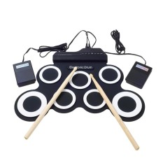 Price Comparisons Niceeshop Portable Electronic Roll Up Drum Pad Instrument Gift Kit Silicon Foldable With Stick