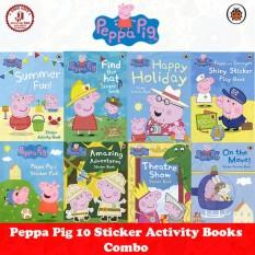 Peppa Pig Activity Book - Combo of 10 Sticker Activity Books  Ladybird Educational Children Books