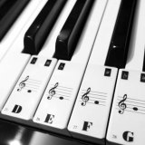 Price Compare Piano Keyboard Electronic Keyboard Stickers Decal Label Note Learn Biginners Kid Intl