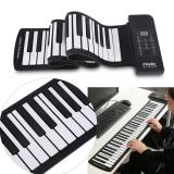 Discount Portable 61 Keys Roll Up Soft Silicone Flexible Electronic Digital Music Keyboard Piano Intl