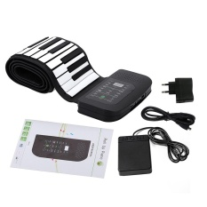 Top Rated Portable 88 Keys Silicone Flexible Roll Up Piano Foldable Keyboard Hand Rolling Piano With Sustain Pedal Intl