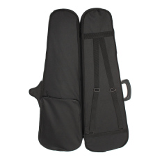Portable Oxford Fabric Black Triangle Shape Violin Hand Box Case With Red Lining 4/4 - Intl By Freebang.