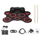 Where To Shop For Portable Usb Stereo Digital Electronic Drum Kit Set 7 Silicon Drum Pads Built In Double Speakers Supports Recording Function With Drumsticks Foot Pedals Intl