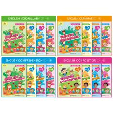 Preschool Series BUNDLE - English Vocabulary, English Grammar, English Composition, English Comprehension WITH EtutorStar Learning Pen