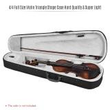 Best Professional 4 4 Full Size Violin Triangle Shape Case Box Hard Super Light With Shoulder Straps Gray Intl
