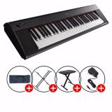 Price Compare Promotion Yamaha Np 12 Piaggero Portable Keyboard Black With Piano X Stand X Bench Keyboard Bag