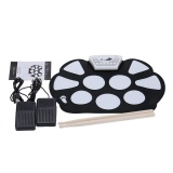 Buying Roll Up Drum Pad Kit Silicon Foldable With Stick Portable Drum Electronic Drum Usb Drum Intl