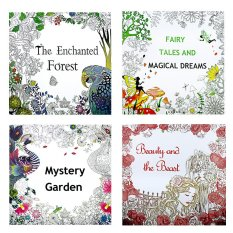 Rorychen English Version Of The Package Secret Garden Decompression Hand Painted Color Picture Book