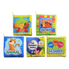 Cheap Set Of 5 Baby Soft Cloth Book For Learning Animals Numbers Vegetables Fruit And The Undersea World Toddler Educational Fabric Book Intl Online