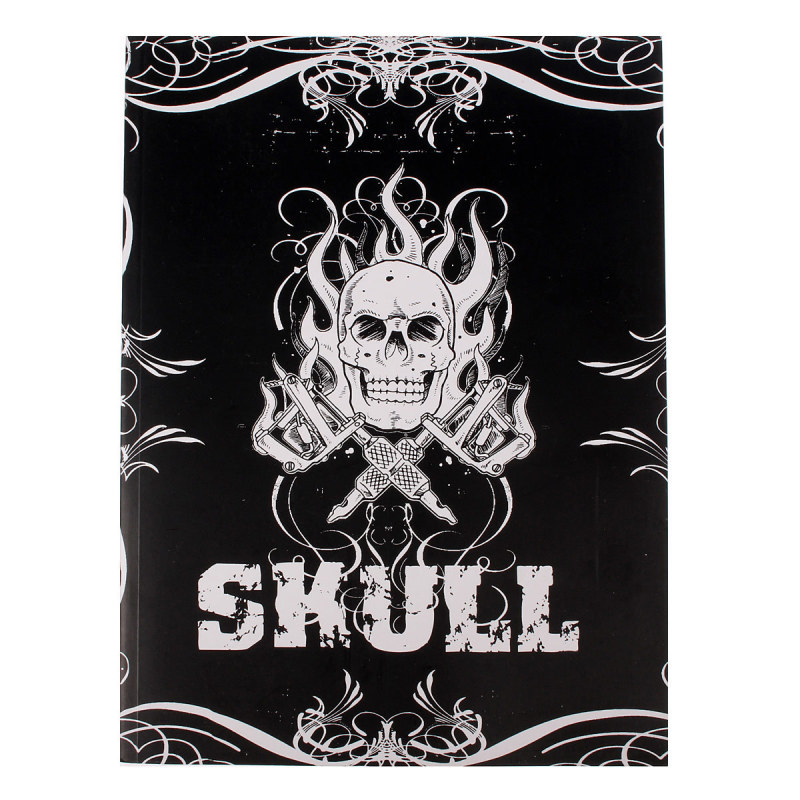 Skull Design Sketch Book Tattoo Works Art Supplies A4 76 Pages - intl