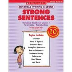 Strong Sentences Overhead Writing Lessons