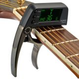 Great Deal Tcapo20 Multifunctional Aluminum Alloy 2 In 1 Guitar Capo Tuner With Lcd Screen For Normal Acoustic Folk Electric Guitar Chromatic Bass Export