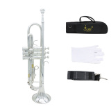 Best Trumpet Bb B Flat Brass Exquisite With Mouthpiece Gloves