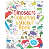 Latest Usborne Sticker Books★Activity Book Educational Children English Book Title Dinosaur Colouring And Sticker Book