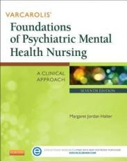 Varcarolis Foundations of Psychiatric Mental Health Nursing (Author: Margaret Jordan Halter, ISBN: 9781455753581)