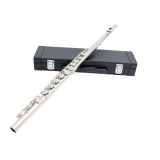 Western Concert Flute Cupronickel Plated Silver 16 Holes C Key Woodwind Instrument With Cleaning Cloth Stick Gloves Mini Screwdriver Padded Case Intl For Sale