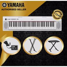 Discount Authorized Seller Yamaha Np 12 Piaggero 61 Keys Portable Keyboard Piano White With Keyboard Stand And Keyboard Bench Yamaha Singapore