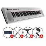 Yamaha Np 12 Piaggero Portable Keyboards White With Piano X Stand X Bench Keyboard Bag Sale