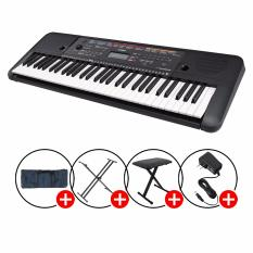 New Yamaha Psr E263 Portable Keyboard Black With Piano X Stand X Bench Keyboard Bag