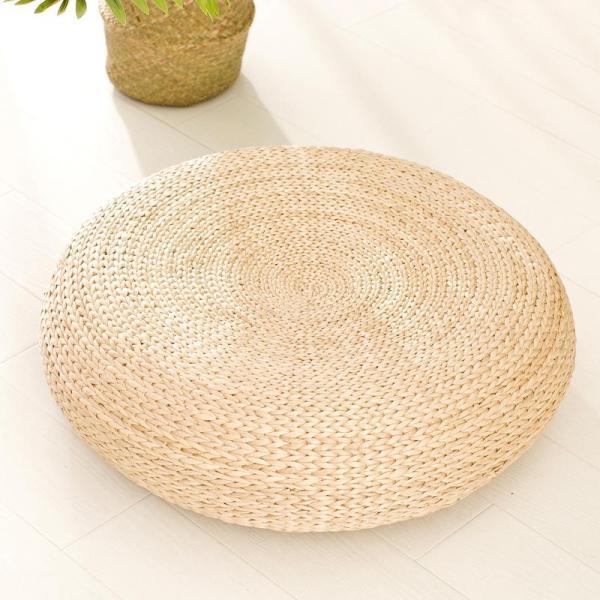 Straw Futon Japanese Style throw pillow Thickening Circle Tea Ceremony Rattan Tatami Yoga Meditation Pad Floor Stool